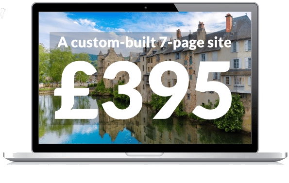 A custom built website for your gite for £395