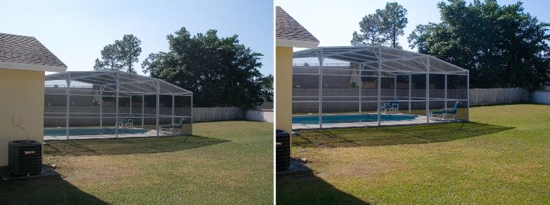 before and after covered pool